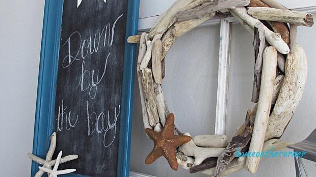 driftwood wreath chalkboard