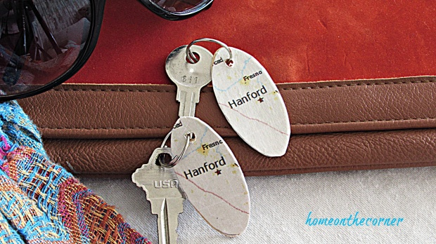 map key chain city of hanford