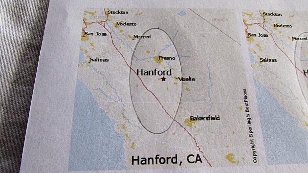 map key chain hometown circled