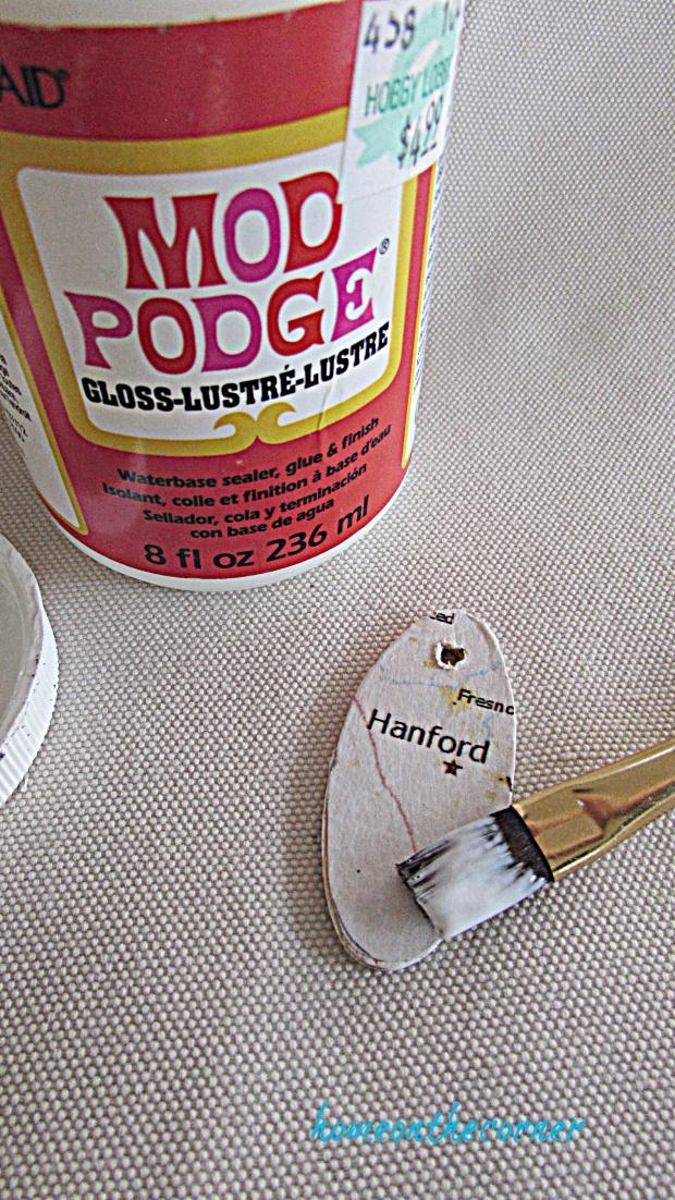map key chain last coat of mod podge