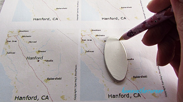 map keychain tracing your town