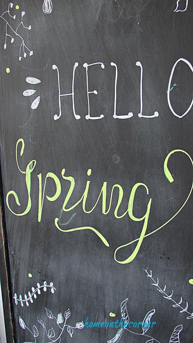 sprig porch spring chalkboard
