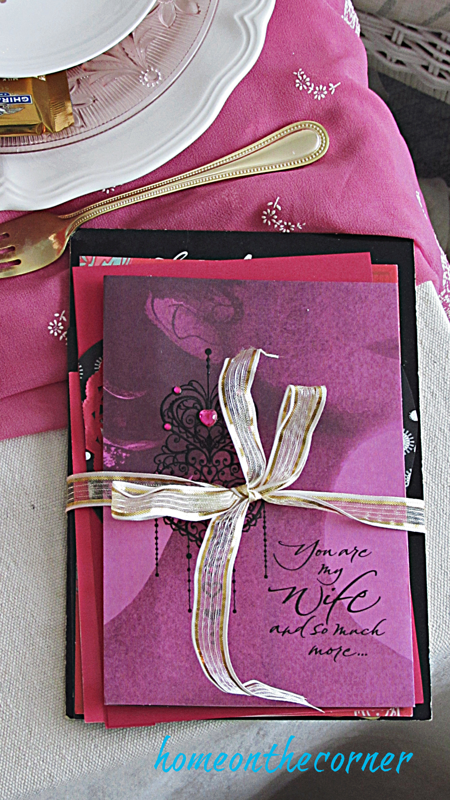 valentine tablescape love letters