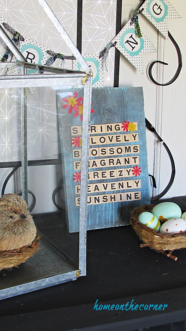 scrabble letters turquoise heavenly sunshine