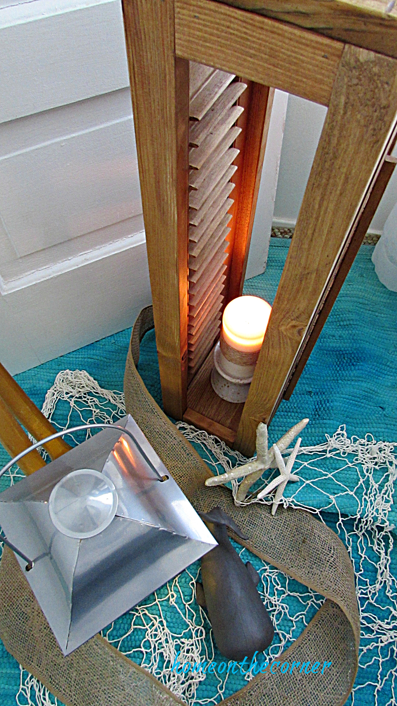 shutter lantern coastal lantern beach whale
