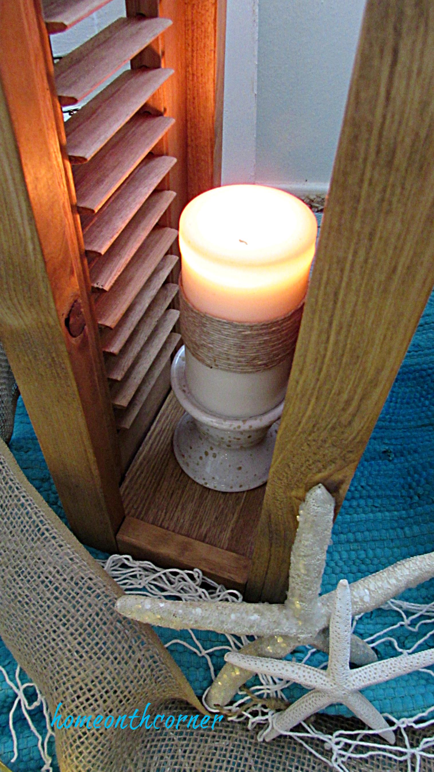 shutter lantern diy candle starfish net