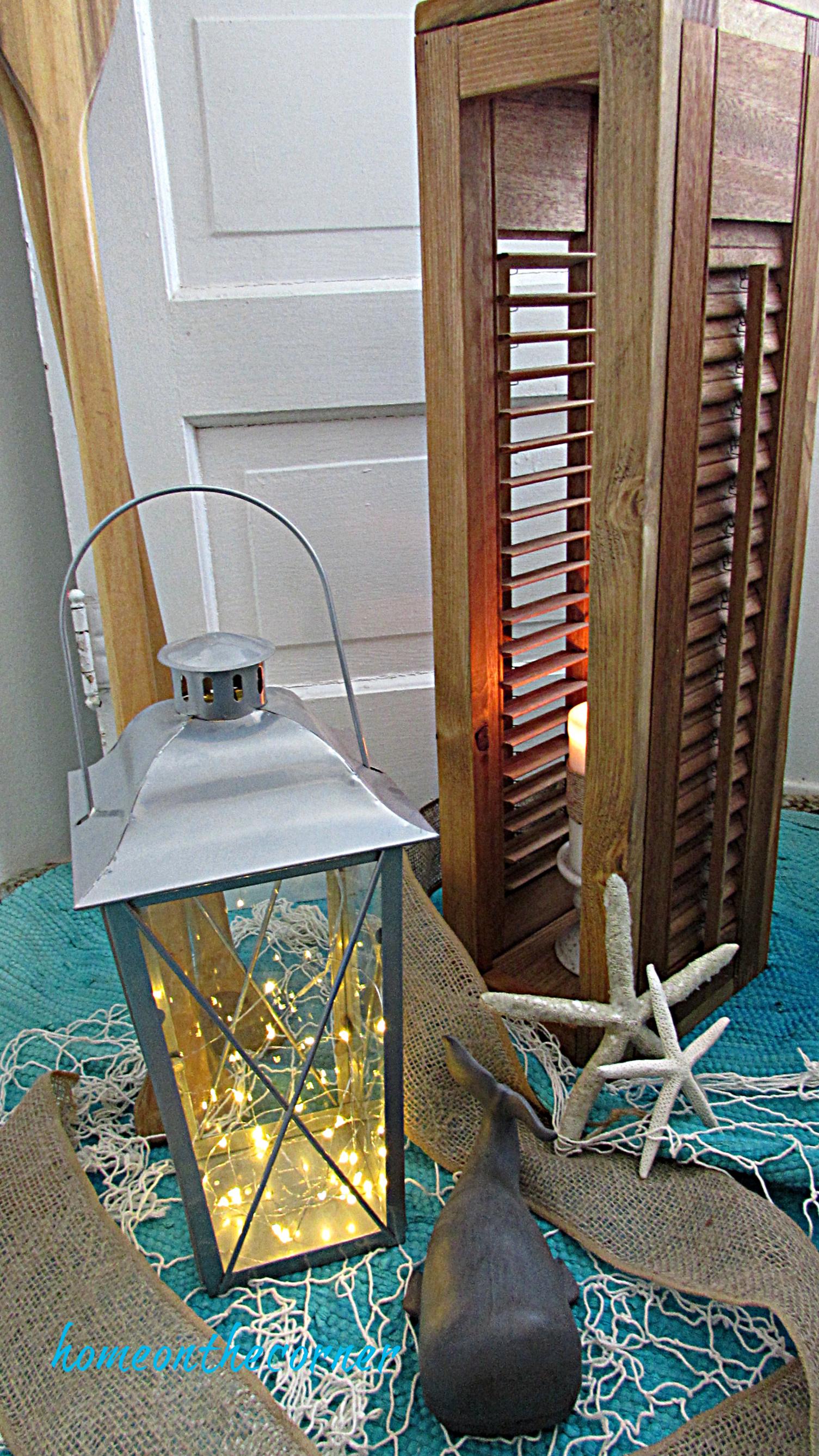 shutter lantern diy starfish coastal