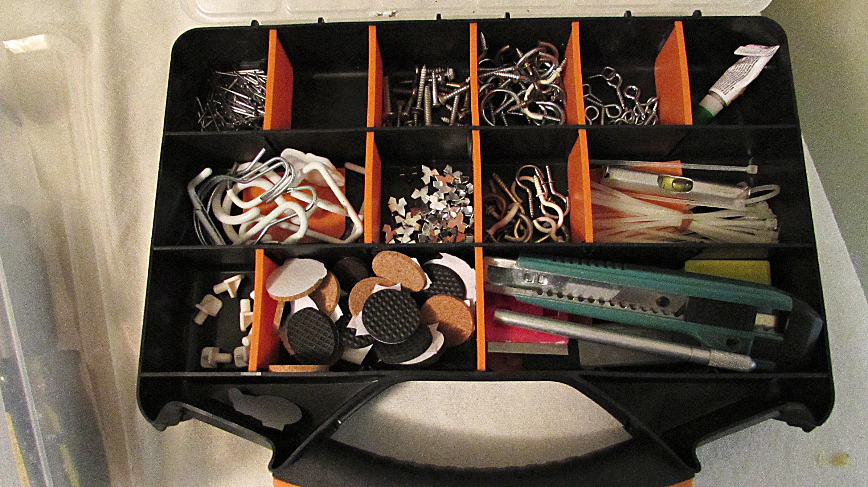 laundry room locker organization tool box