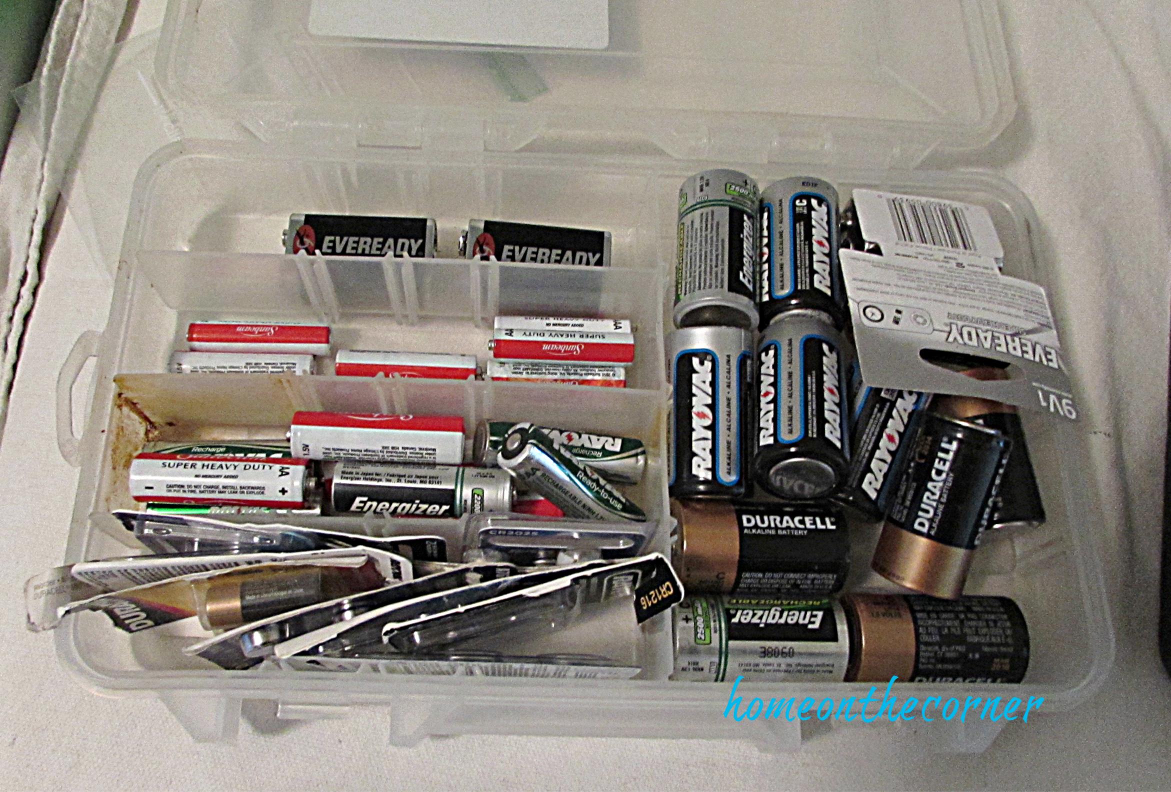 laundry room organization battery box