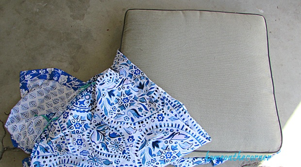 outdoor furniture makeover fabric cover