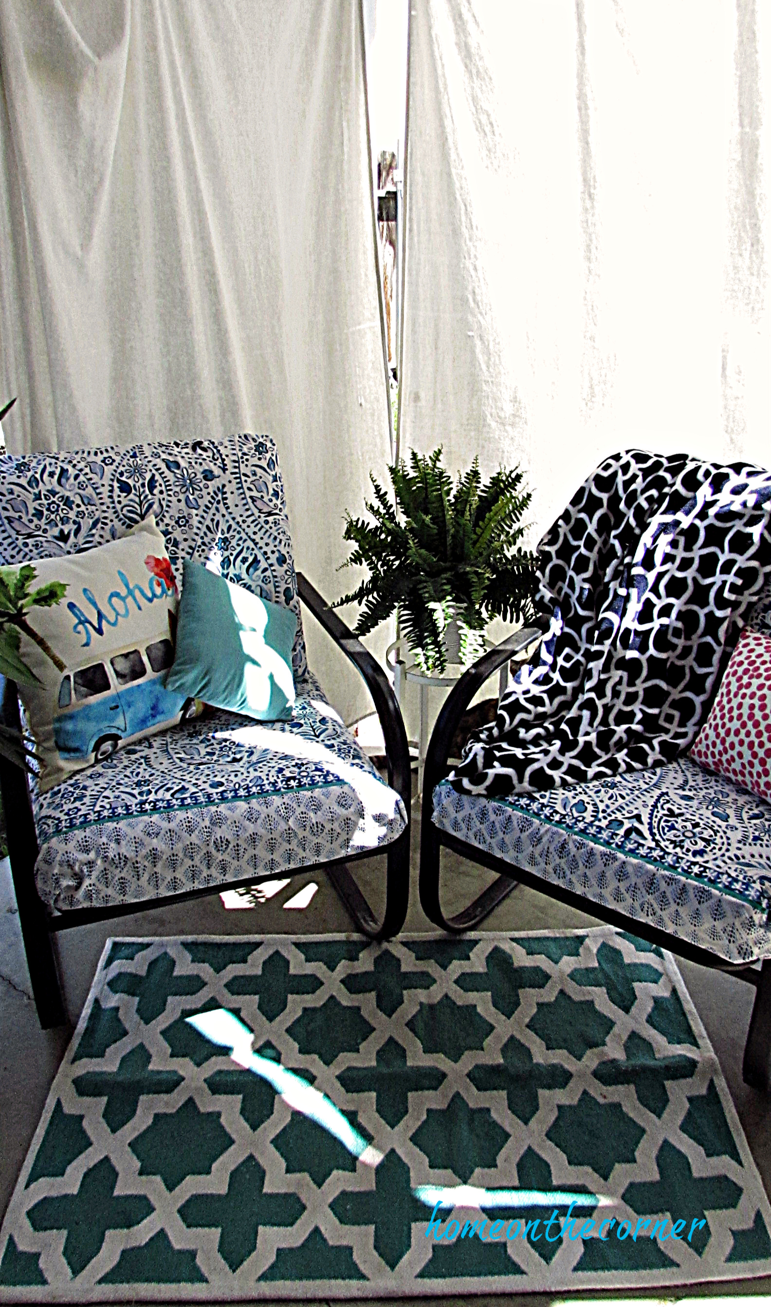outdoor patio chair cushions recovered