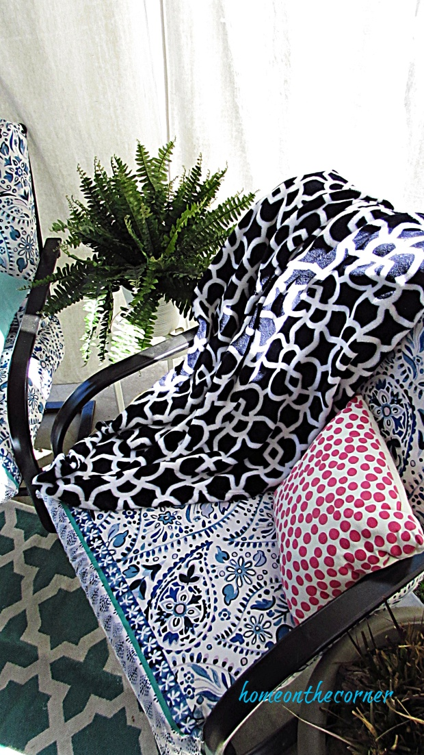 outdoor patio furniture cushion recover with shower curtain