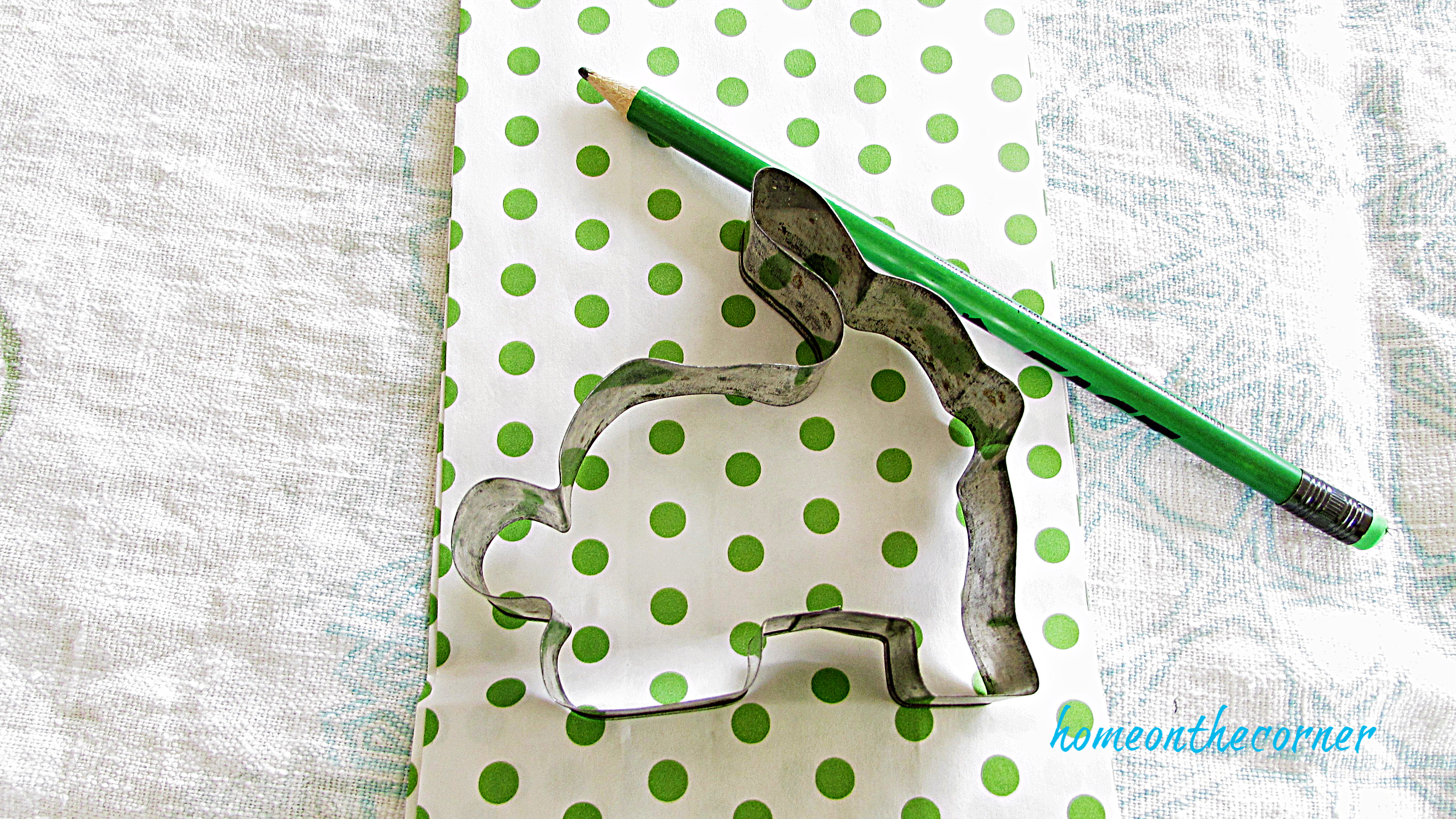 Polka Dot Easter Bag bunny cookie cutter