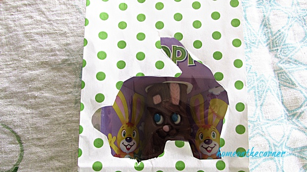 Polka Dot Easter Bag Cellophane bunny green dots