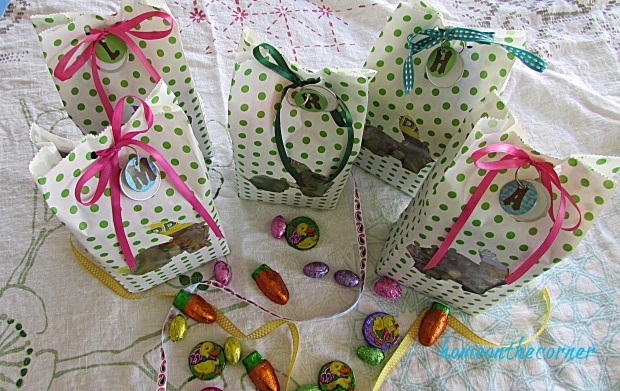 Polka Dot Easter Bag monogrammed candy bag