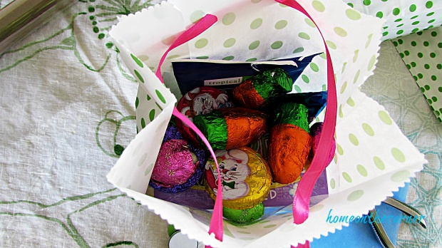 Polka Dot Easter Bag Ribbon Candy