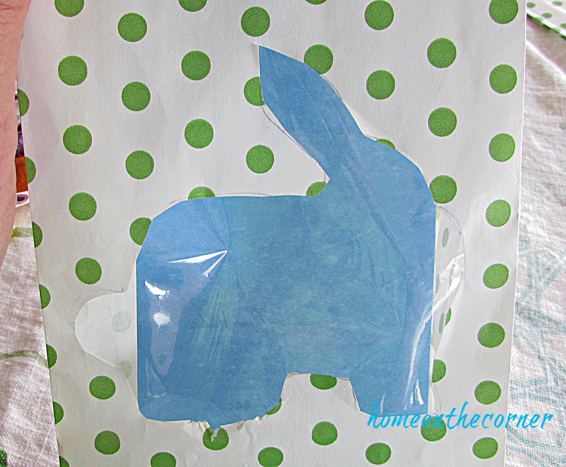 Polka Dot Easter Bag with Cellophane