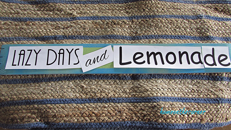 lazy days and lemonade printout