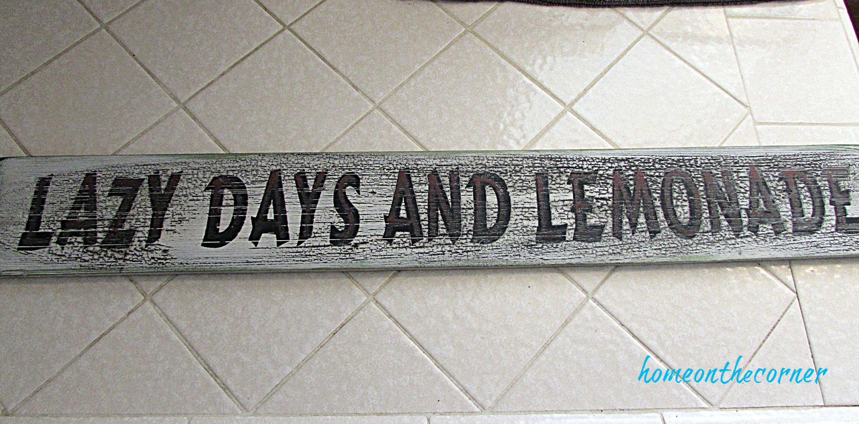 lazy days and lemonade wooden sign
