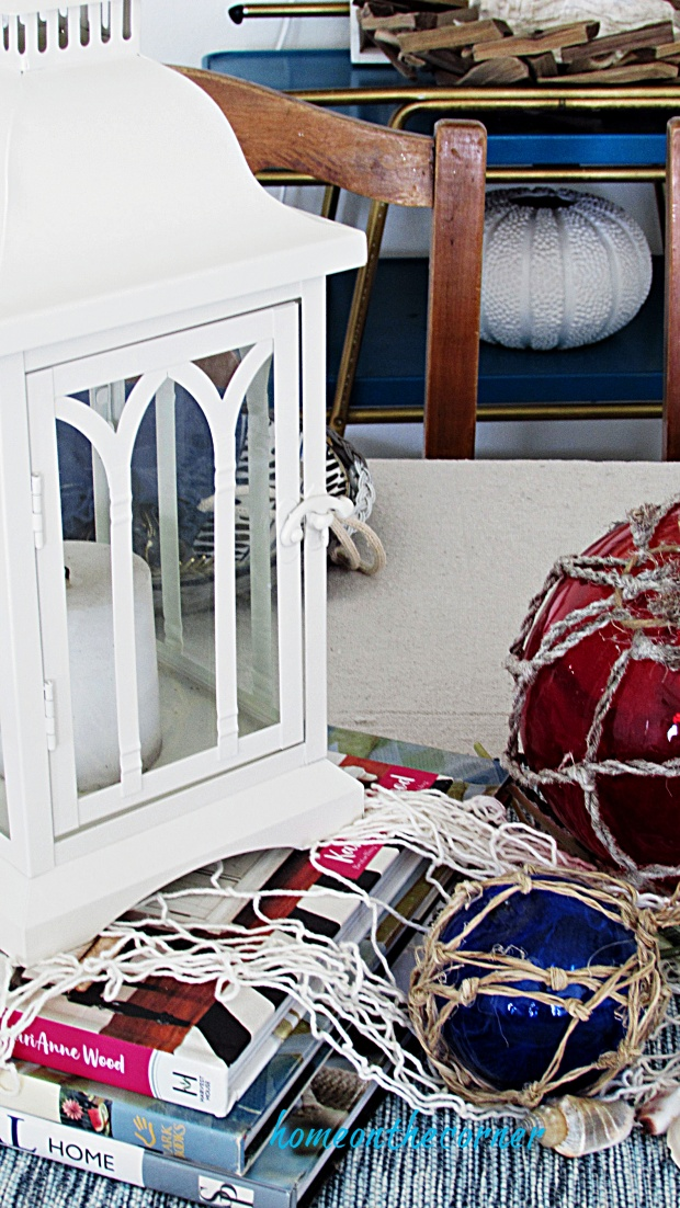 coastal dining room lanterns, seashells