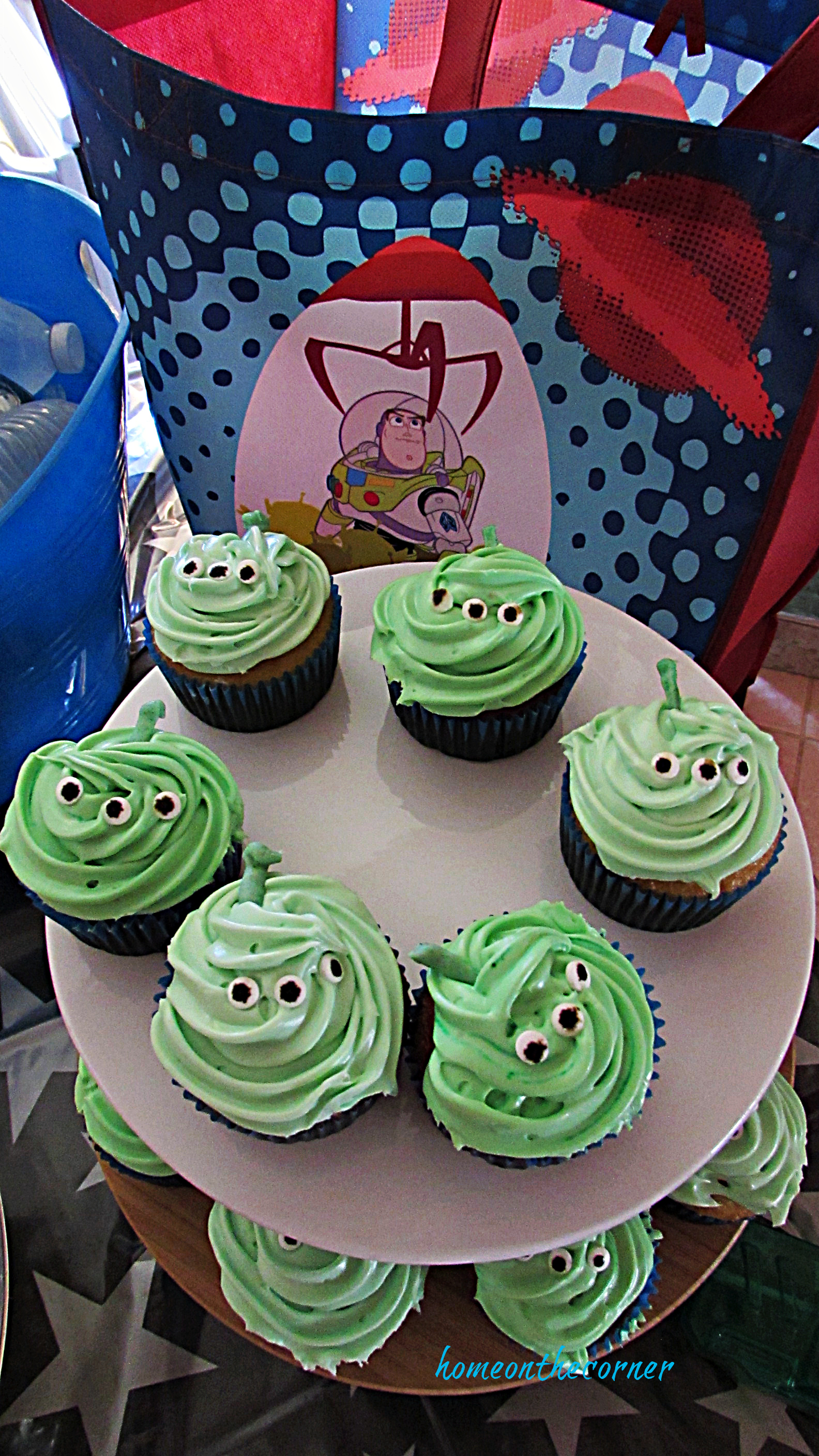 Disneyland Tomorrowland Green Martian Cupcakes