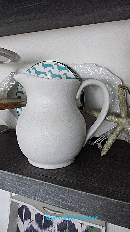 spray paint white pitcher