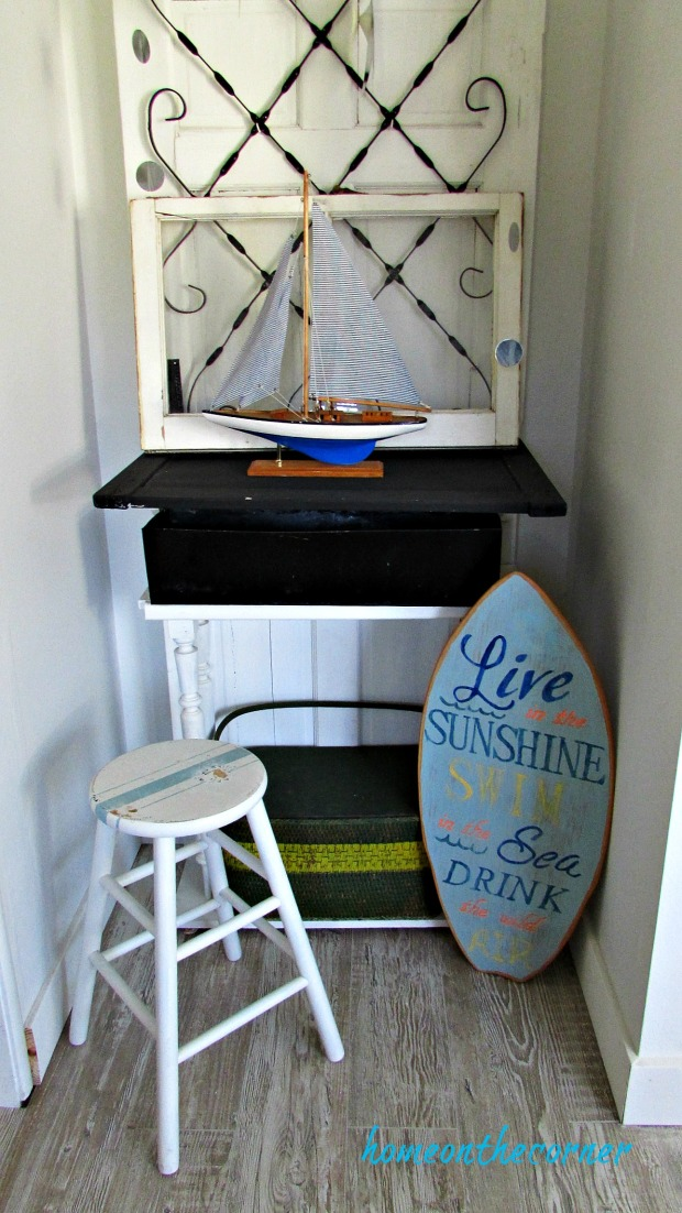 new living room coastal entryway