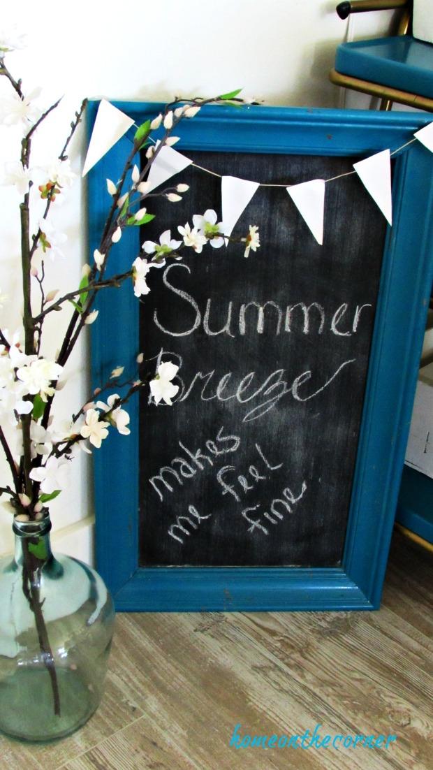 new living room summer breeze chalkboard