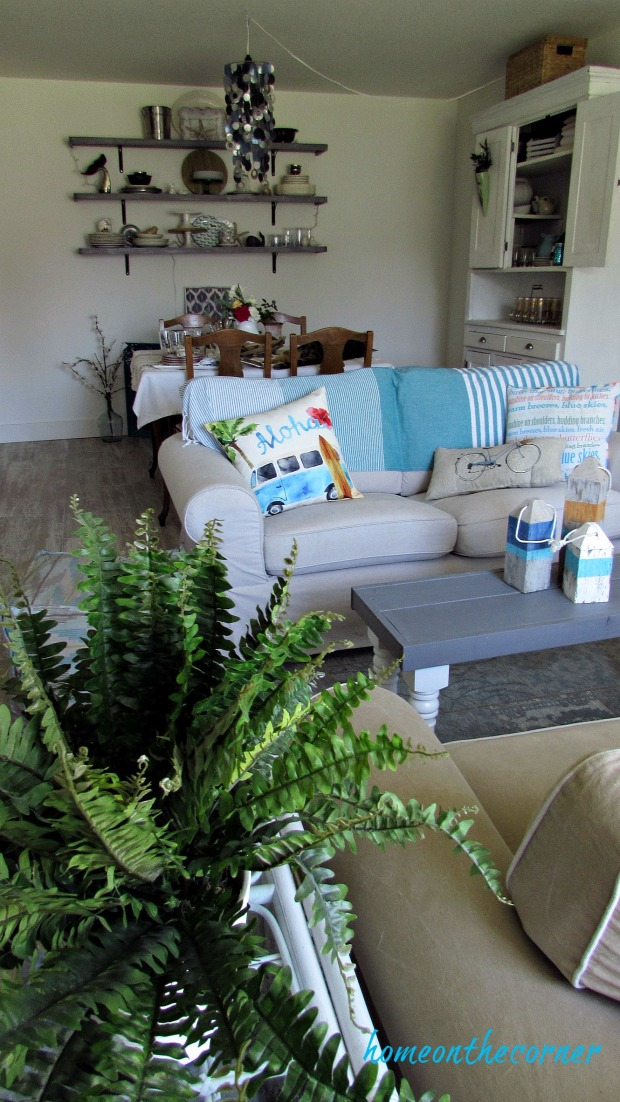 new living room summer coastal decor