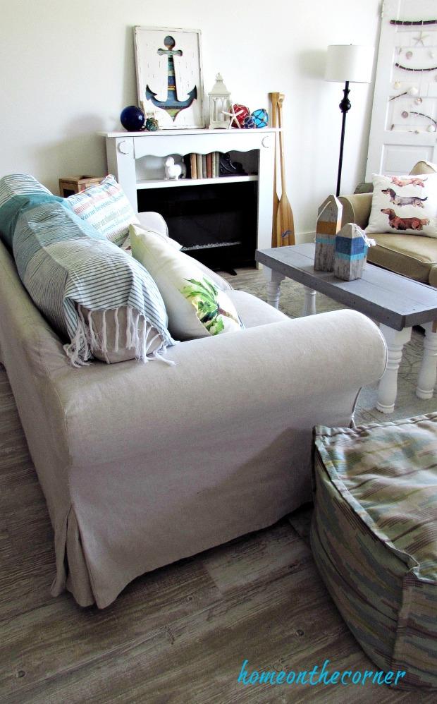 new living room white coastal decor