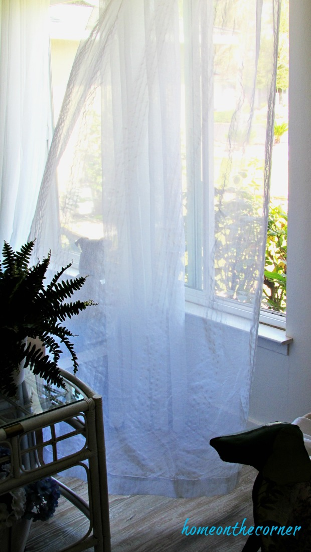 new living room white sheer curtains