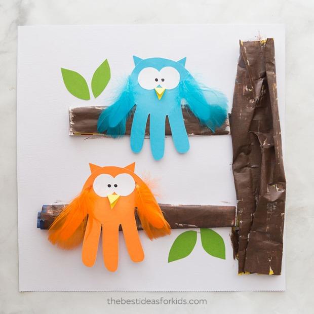 Owl-Handprint