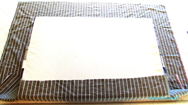 RV cushion cover striped fabric