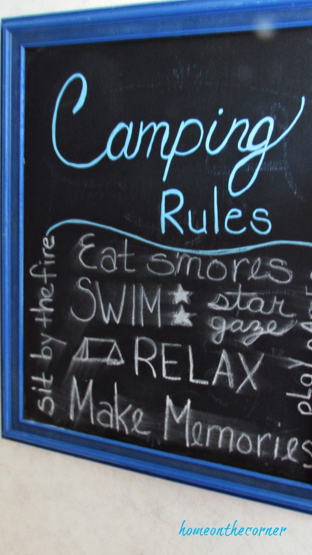 rv makeover camping rules chalkboard