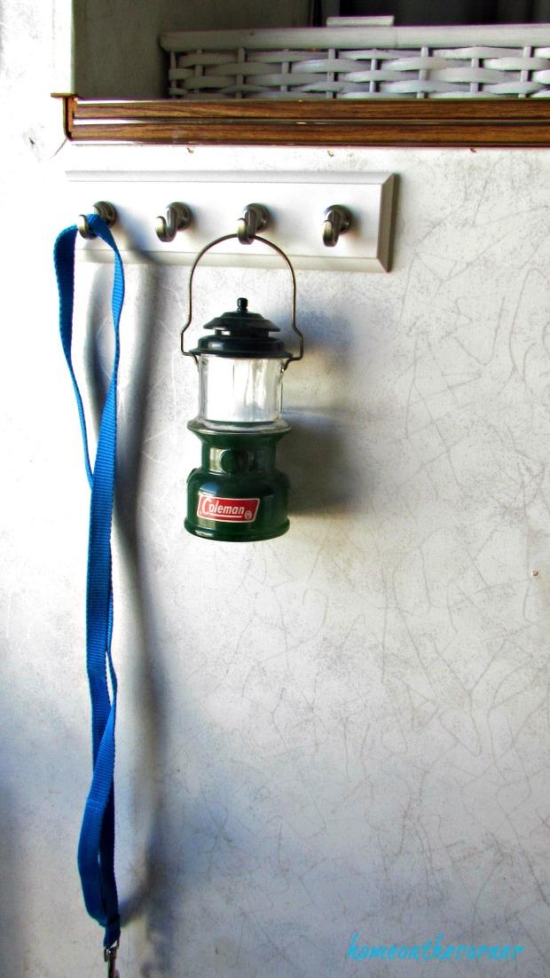 rv makeover coleman lantern and leash