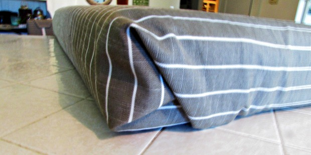 rv makeover folded cushion cover ends