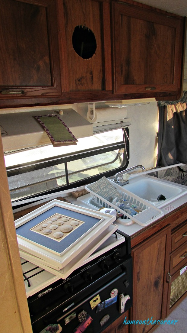 rv makeover kitchen before