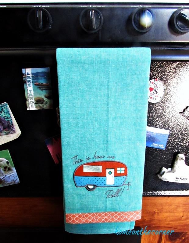 rv makeover kitchen towel
