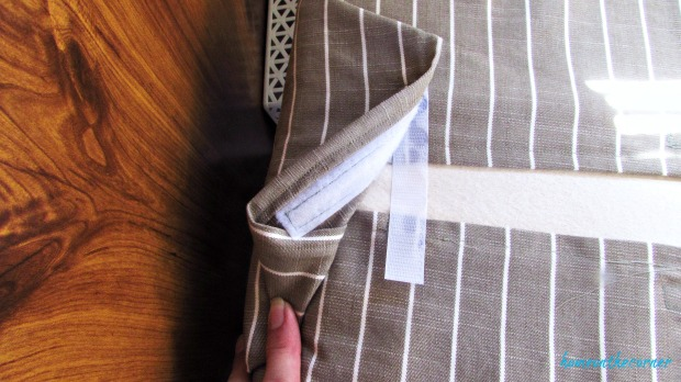 rv makeover striped cushion cover with velcro closure