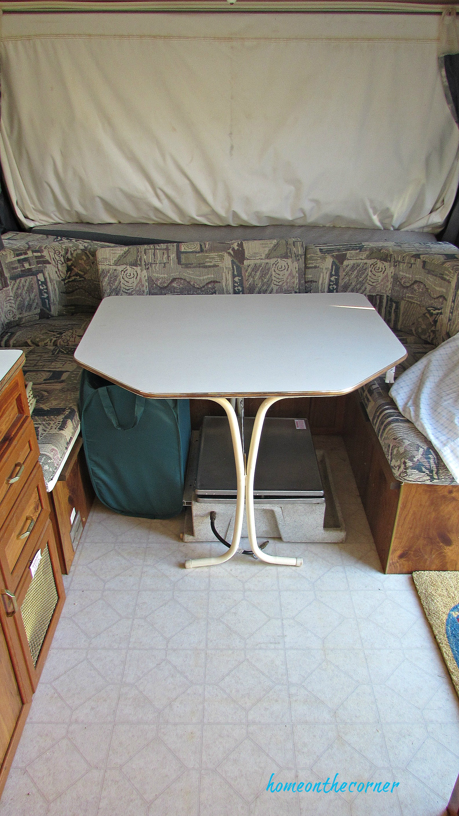 rv makeover table before