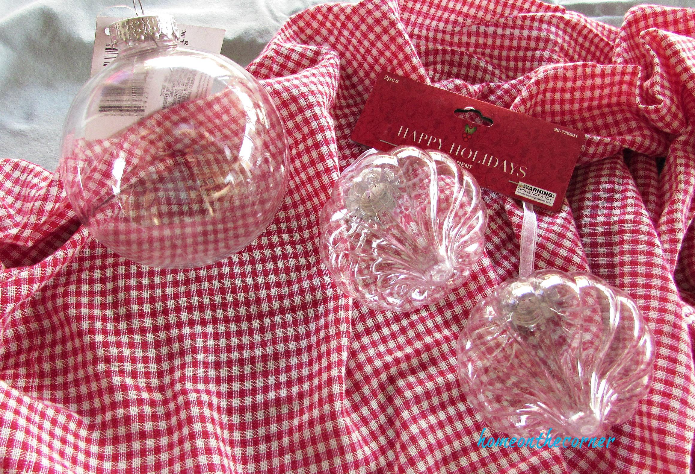 christmas ornament exchange clear ornament