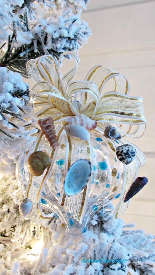 christmas ornament exchange coastal seashells