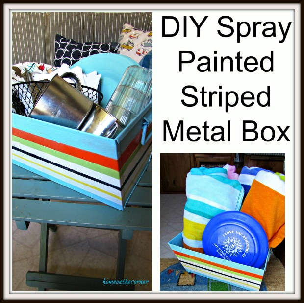 DIY Spray painted metal box title