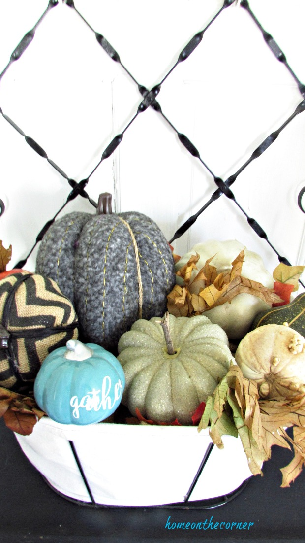 fall living room pumpkin basket entry