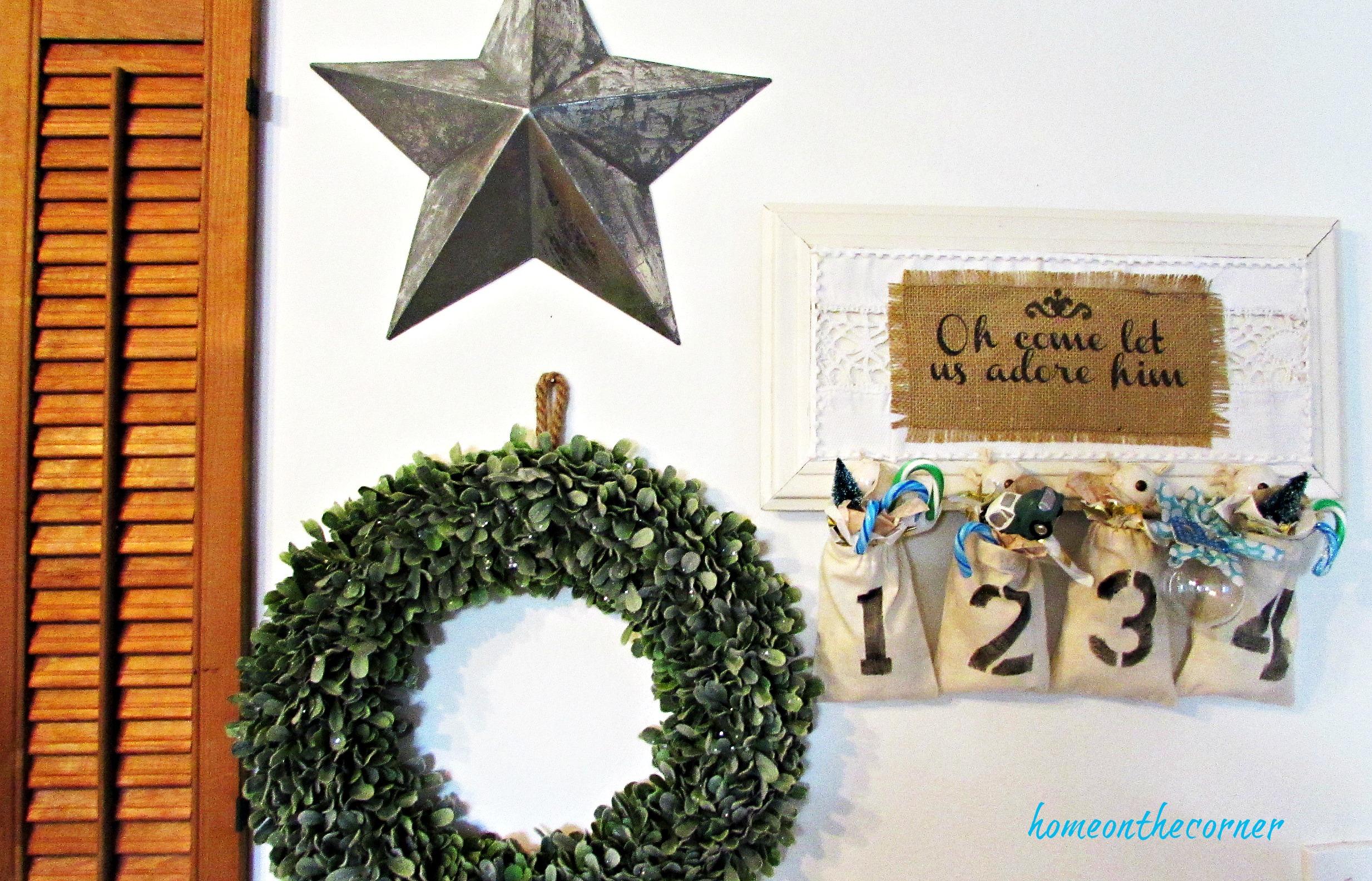 advent calendar christmas decor