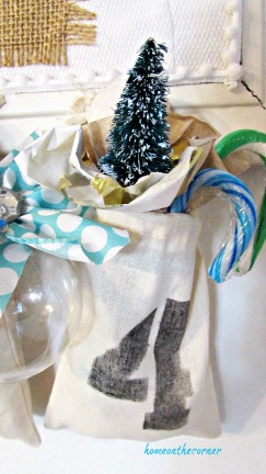 advent calendar linen bag number four