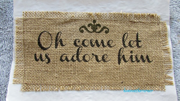 advent calendar oh come let us adore him print on burlap
