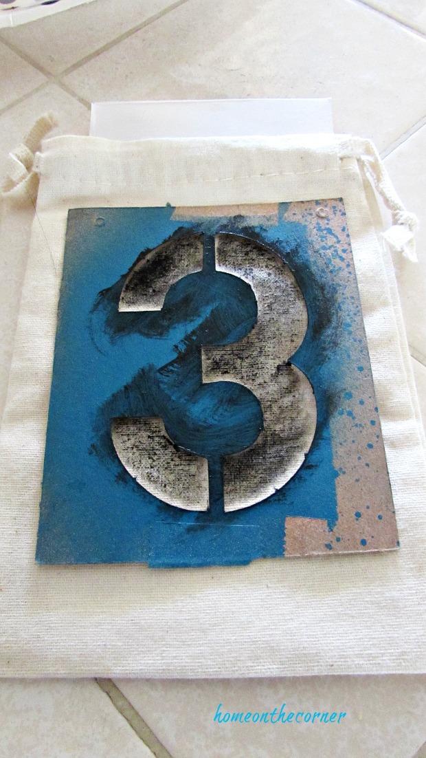 advent calendar stencil number
