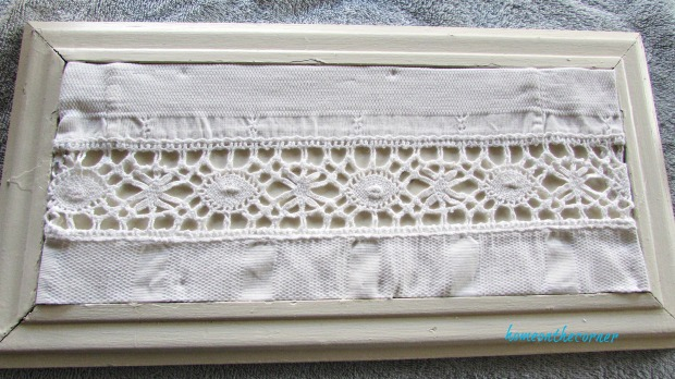 advent calendar white lace in frame