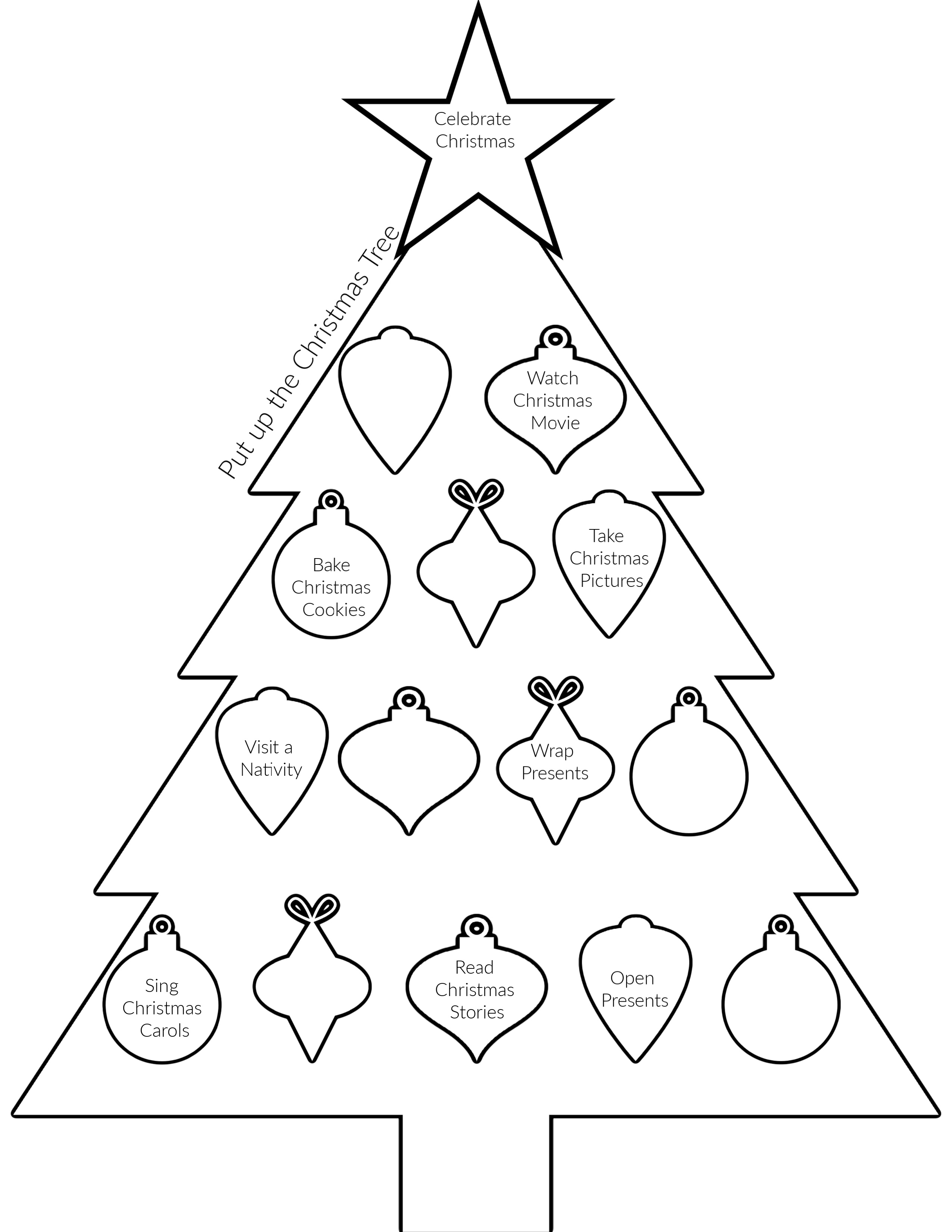 Christmas To Do Coloring Page (1)